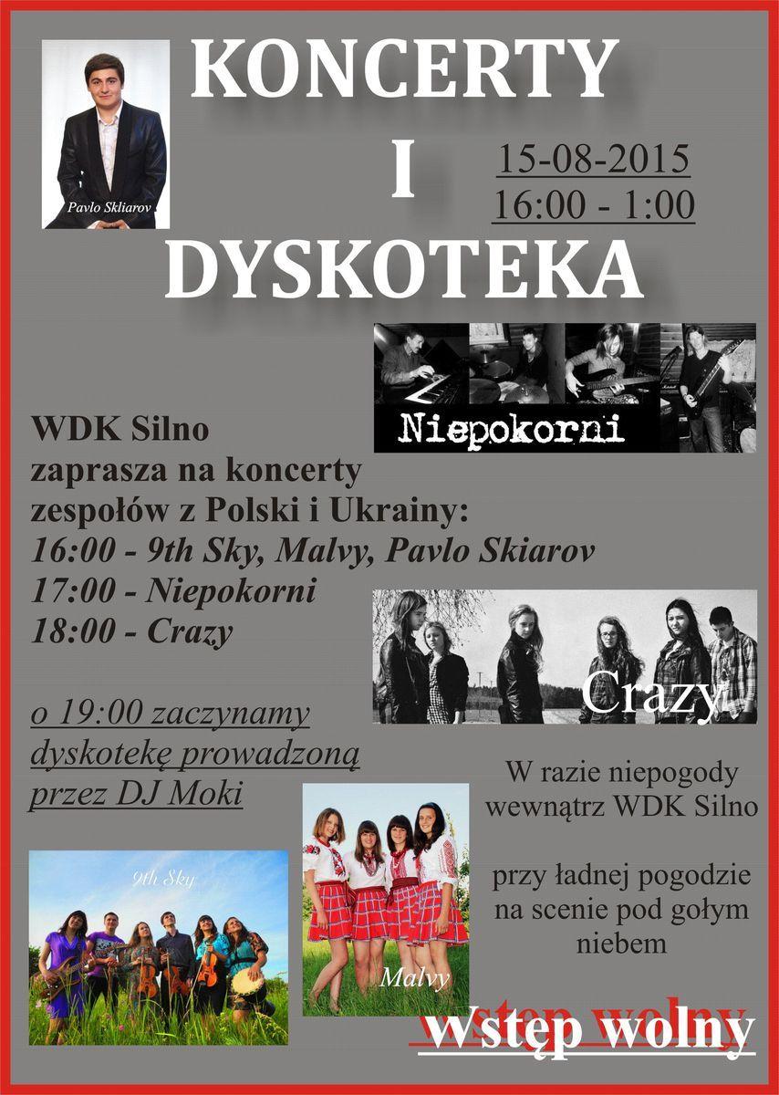 Koncerty na 15 sierpnia 2015